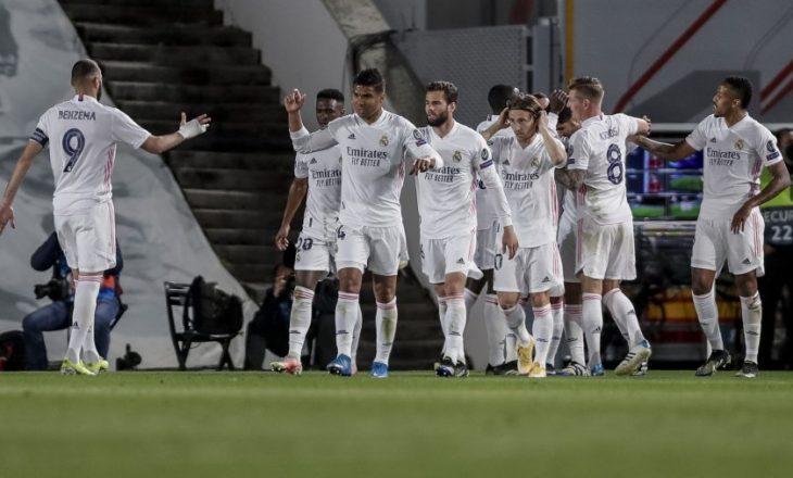 City dhe Real në avantazh pas pjesës së parë ndaj Dormtund, respektivisht Liverpool