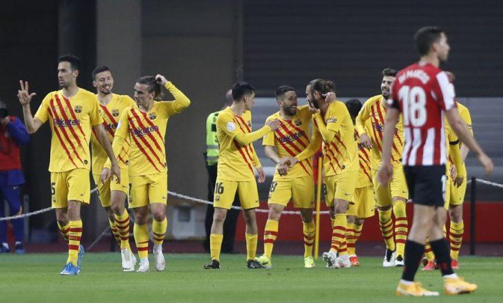 Barcelona fituese e Kupës së Mbretit, mposht Athletic Bilbaon në finale