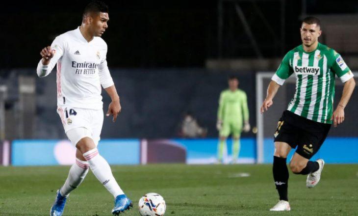 Real Madrid nuk shkon më shumë se një barazim në shtëpi ndaj Betis, hap mbrapa në luftën për titull