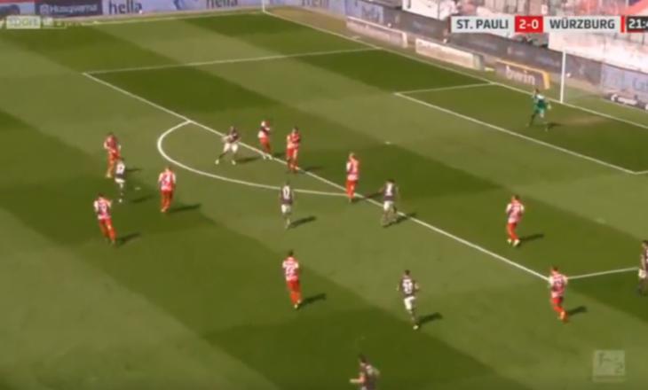 Paqarada shënon gol në fitoren bindëse të St. Paulit në Bundesligën 2 gjermane