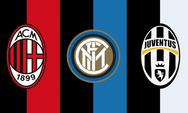 Klubet nga Serie A kundër ekipeve që përkrahën Super Ligën Europiane si Inter, Juventus dhe Milan