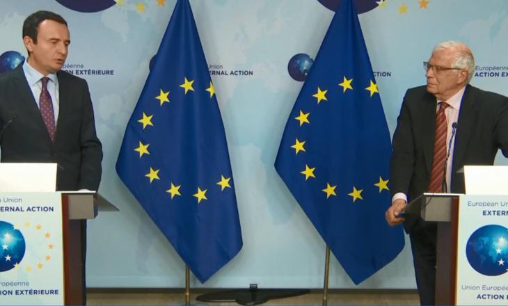Borrell: Kurtin e inkurajova të përfshihet në dialog, është rruga e vetme drejt BE-së