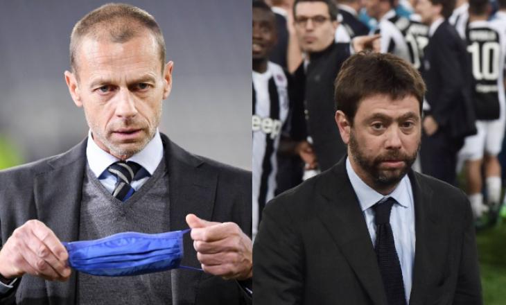 Presidenti i UEFA-së Ceferin e quan gënjeshtar presidentin e Juventusit në lidhje me Super Ligën Europiane