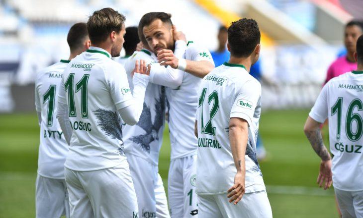 Cikalleshi asiston por humb penalltinë e fituar nga Bytyqi te Konyaspor