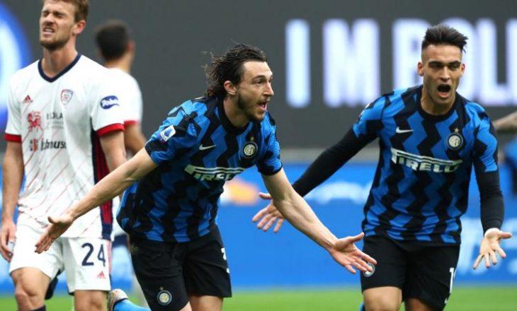 Inter shënon fitore në fund kundër Cagliarit