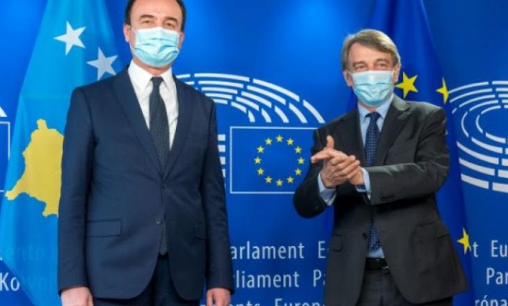 Kurti takohet me presidentin e Parlamentit Evropian