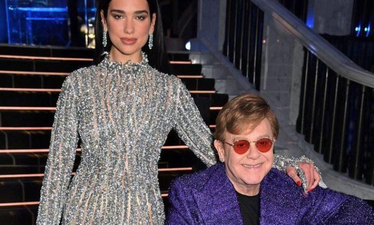 """Çfarë veshi Dua Lipa në festën e Elton John që mbahet pas çmimeve """"Oscar""""?"""