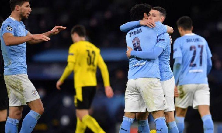Manchester City në fund fiton sfidën ndaj Dortmund