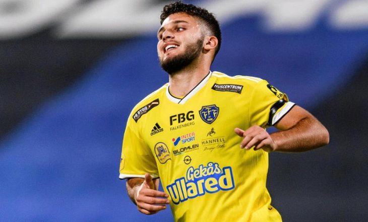Edi Sylisufaj shënon gol në sidën që Falkenbergs humbi ndaj Osters në kampionatin suedez