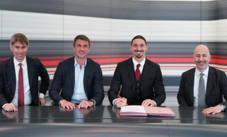 Zyrtare: Ibrahimoviç rinovon kontratën me Milanin