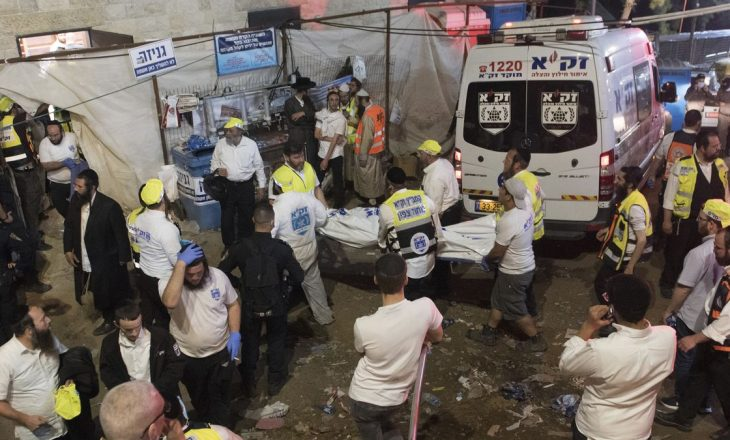 44 të vdekur gjatë një ceremonie fetare në Izrael