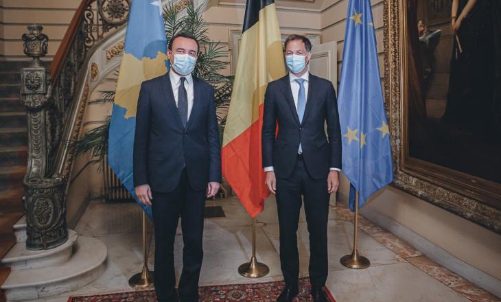 Kurti e fillon vizitën në Bruksel, takohet me homologun belg