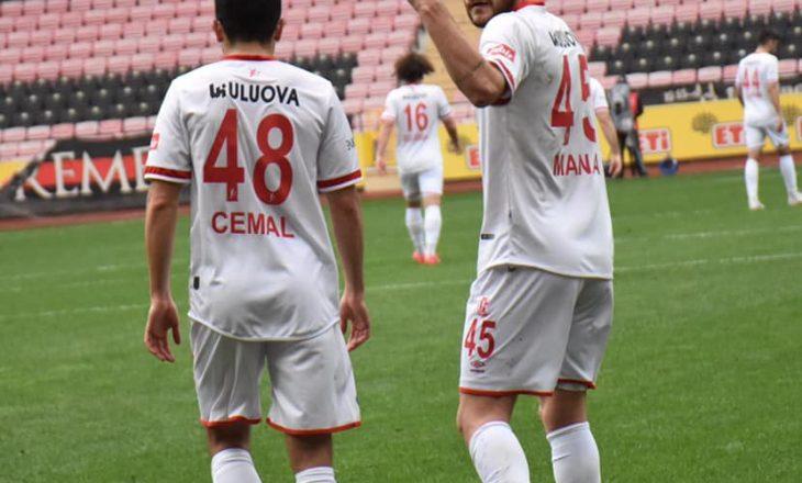 Arb Manaj shënon gol për Balikesirspor në Ligën e Parë turke