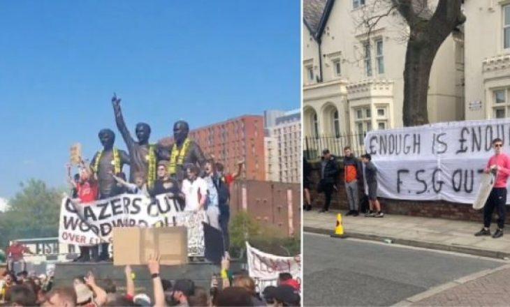 Tifozeritë e Manchester United dhe Liverpool protestojnë kundër ekipeve të tyre që nënshkruan Super Ligën Europiane