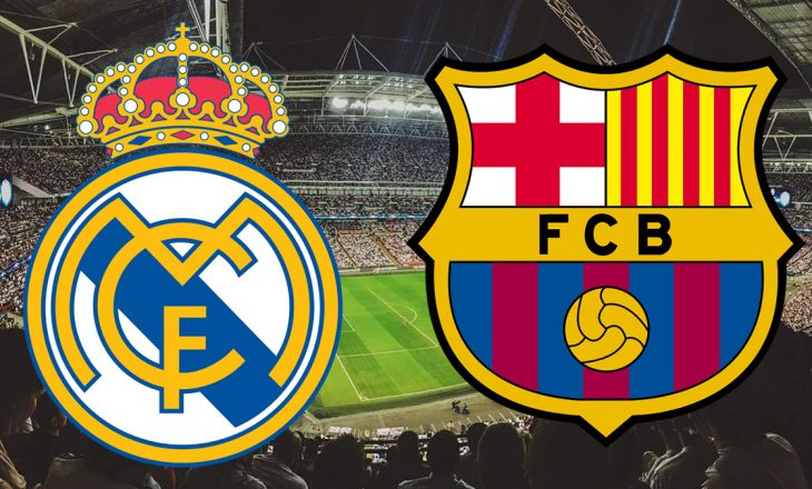 """Formacionet zyrtare në """"El Clasico"""" Real Madrid vs Barcelona"""