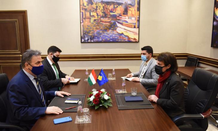 Krye-diplomatja kosovare takohet me ambaadorin hungarez për thellimin e raporteve në mes dy vendeve