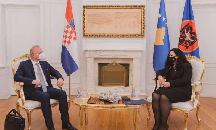 Presidentja takon kryediplomatin kroat, bisedojnë për liberalizimin e vizave