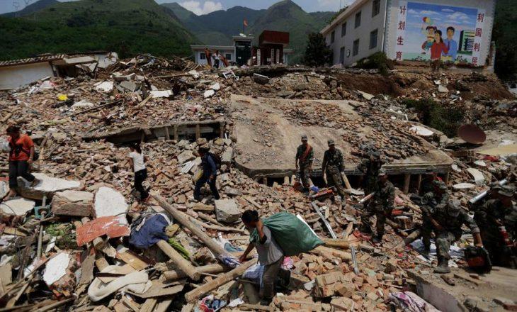 Tërmeti me magnitudë 6.1 ballë që goditi Kinën jugperëndimore ka lënë të vdekur tre persona