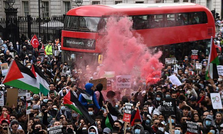 Protesta nëpër qytete të ndryshme të botës kundër konfliktit Izrael-Palestinë