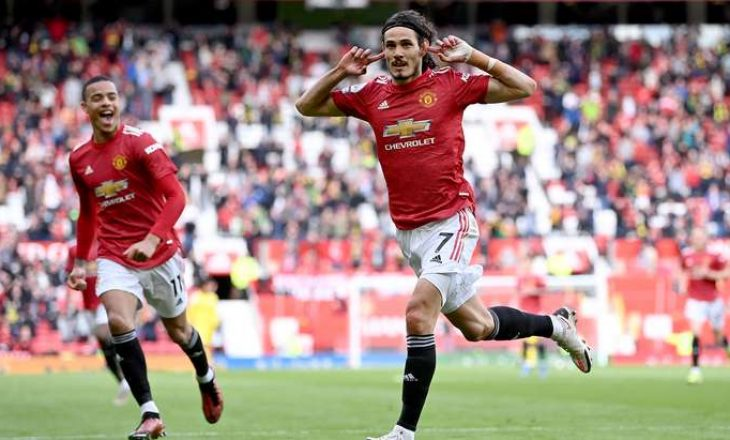 Cavani shënon gol të bukur nga distanca, kalon në epërsi Unitedin kundër Fulhamit