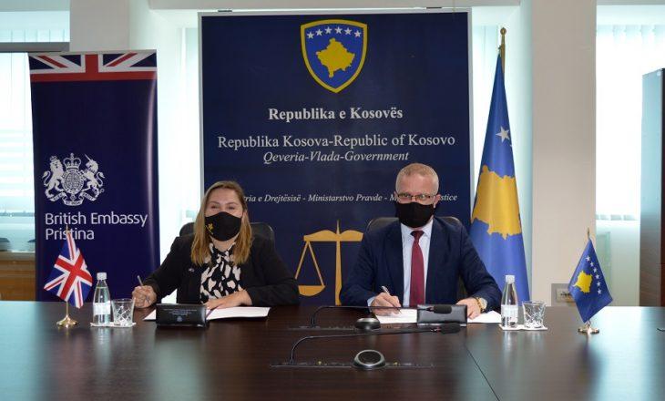 Ministria e Drejtësisë dhe Ambasada Britanike nënshkruajnë marrëveshje