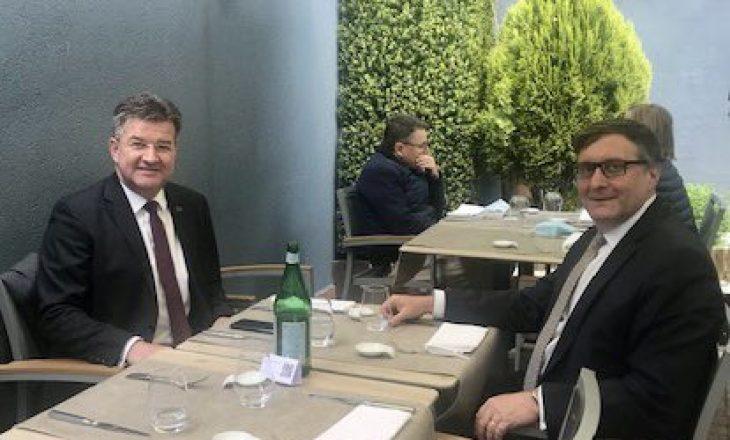 Lajçak e pret në takim Palmerin, flasin për dialogun Kosovë-Serbi
