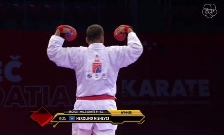 Karateisti Herolind Nishevci fitoi të bronztën në Kampionatin Evropian që po mbahet në Poreç të Kroacisë
