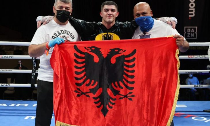 Reshat Mati shënon fitoren e 10-të në boksin profesionist, mposht Ryan Pino