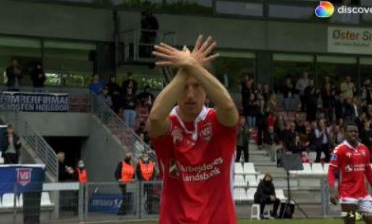 Arbnor Muçolli realizon gol për Vejlen në Danimarkë