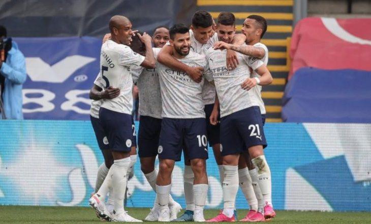City mposht Crystal Palace, ekipi i Guardiolës i afrohet titullit