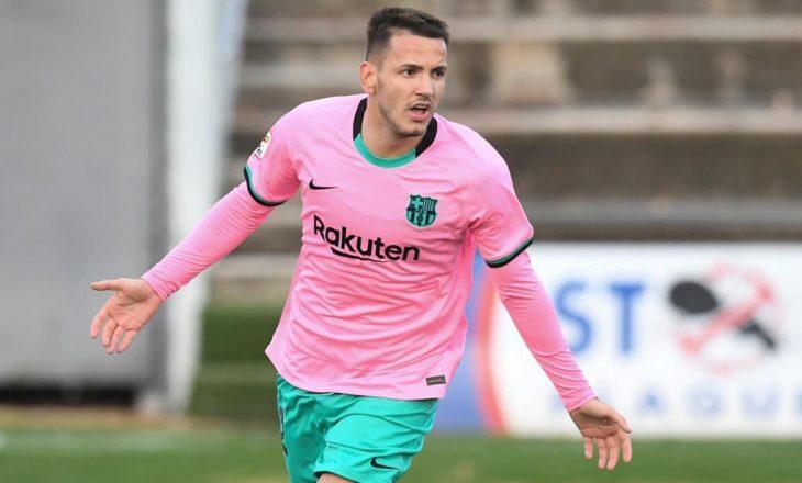 Rei Manaj shënon dy gola për Barcelonën B ndaj Murcias