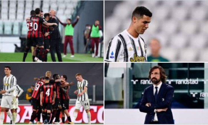 Milan mposht Juventusin në Torino, ekipi i Piolit ngjitet në vendin e tretë ndërsa Juve del jashtë zonës Champions