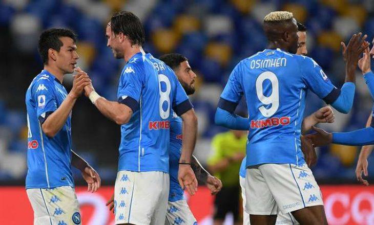Napoli mposht bindshëm Udinesen, ekipi i Gattusos kalon në vendin e dytë në ligë