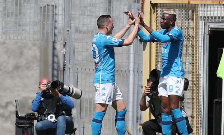 Napoli mposht Spezian, ekipi i Ismajlit rrezikon rënien një kategori më poshtë
