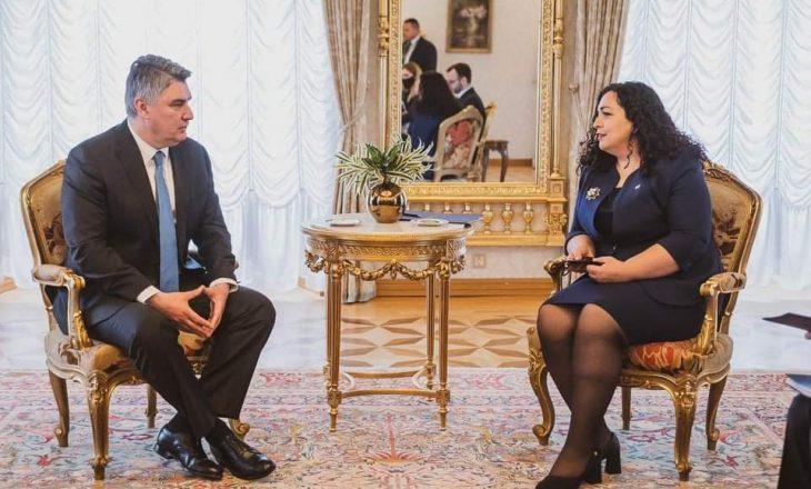 Osmani takon presidentin kroat, e falënderon për dhurimin e vaksinave anti-COVID