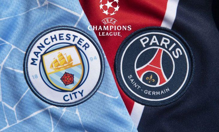 Manchester City vs PSG – formacionet e aktit të dytë gjysmëfinal të Champions League