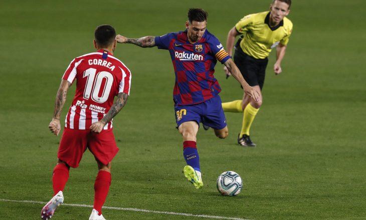 Mbyllet pjesa e parë me rrjeta të paprekura në sfidën Barcelona – Atletico