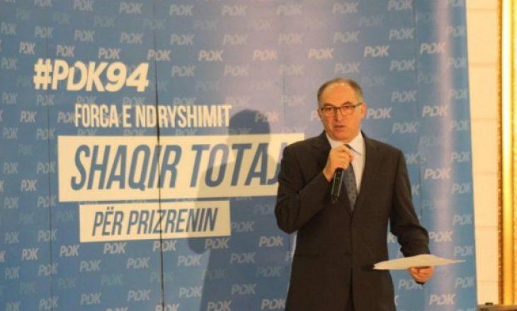 Shaqir Totaj kandidat i PDK-së për kryetar të Prizrenit