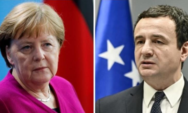 Merkel nesër do të bisedojë me kryeministrin Kurti