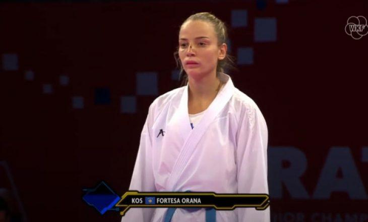 Karateistja Orana përfundoi në vendin e pestë në Kampionatin Evropian