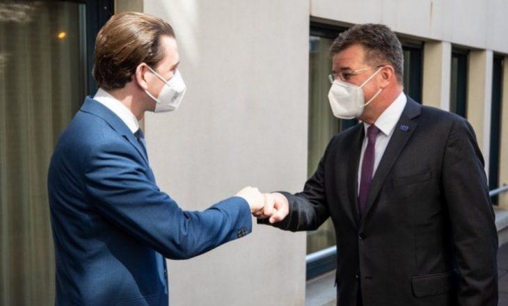 Kancelari austriak Kurz takohet me Lajçakun, diskutuan për dialogun Kosovë-Serbi