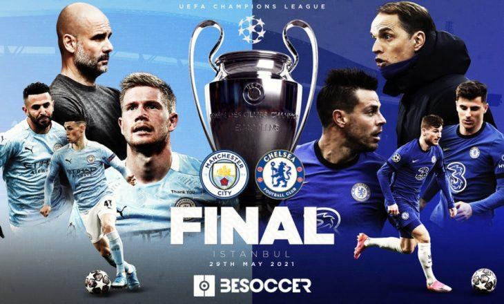 Manchester City – Chelsea, formacionet zyrtare të finales së madhe në Champions