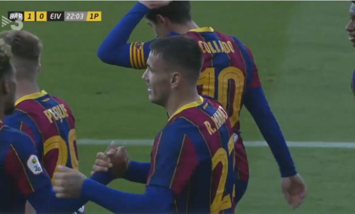 Manaj shënon gol për Barcelonën B