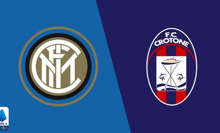 Crotone vs Inter – formacionet zyrtare të sfidës në Serie A