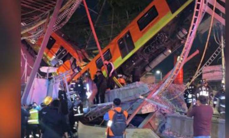 23 të vdekur dhe 70 të plagosur nga shembja e mbikalimit të metrosë në Meksikë