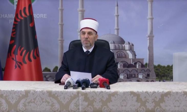 Myftiu Tërnava uron Bajramin: Namazi falet, por s'ka ceremoni nëpër xhamia
