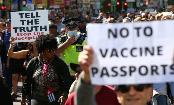 Në Londër protestojnë kundër vaksinës dhe masave ndaj COVID-19