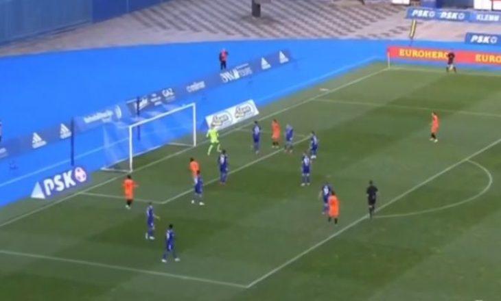 Agon Elezi realizon gol për Varazdinin kundër Dinamos së Zagrebit