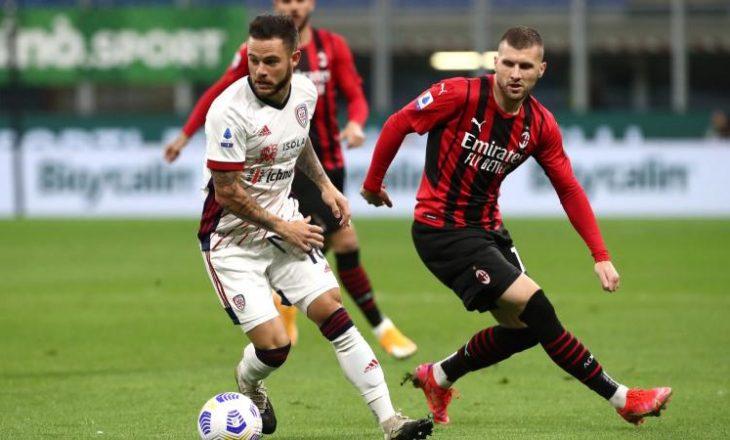 Milan nuk shkon më shumë se një barazim me Cagliarin
