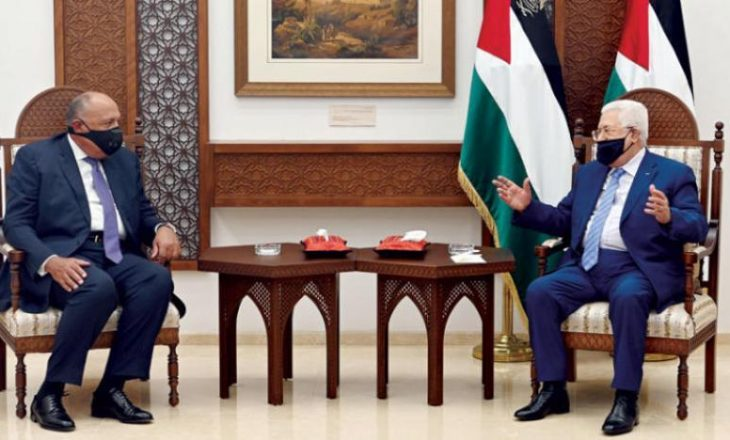 Presidenti palestines Abbas takohet me ministrin e Punëve të Jashtme të Egjiptit në Ramallah